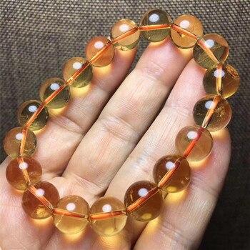 5349ee8f1463 Natural genuino citrino amarillo piedras preciosas Abacus cuentas pulsera  de las mujeres 7mm 8mm 9mm 10 mmBrazil rico de piedra mejor regalo AAAAA