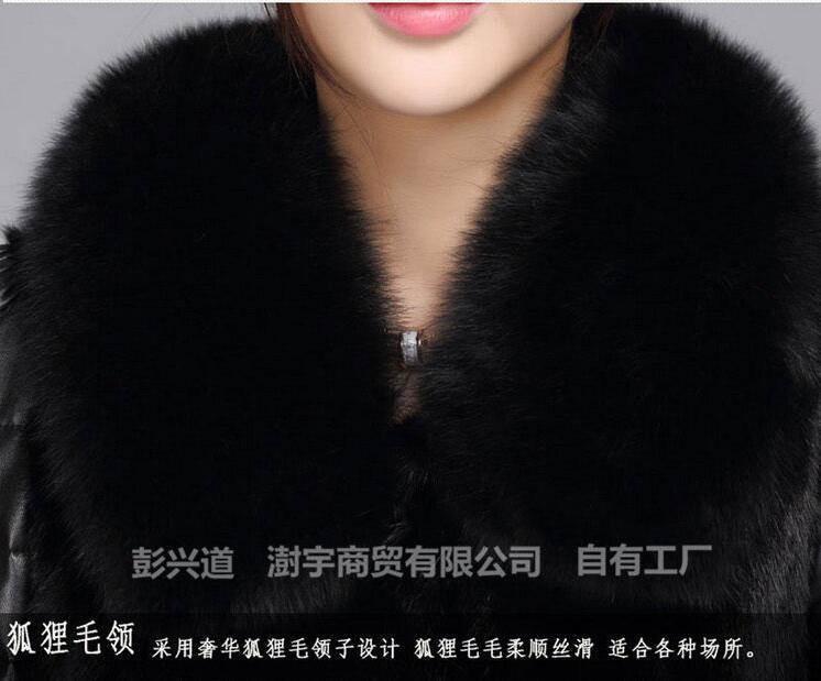 Automne De Vison Imitation Nouvelle Fourrure Longue Renard Cheveux Tempérament Femelle Chaud Manteau Veste Mode Col Et Hiver Section rYwXCr