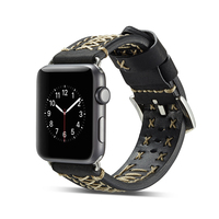 38mm 42mm Wrist Strap For Apple Watch Genuine Leather Band Handmade Line Sewing Decoration For Apple Watch Series 1 2 3 iWatch