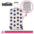 Big Blue Dots Luggage Protective Covers Elastic Waterproof Trolley Case Covers Girls Travel Accessories Apply For 18-30Inch Case