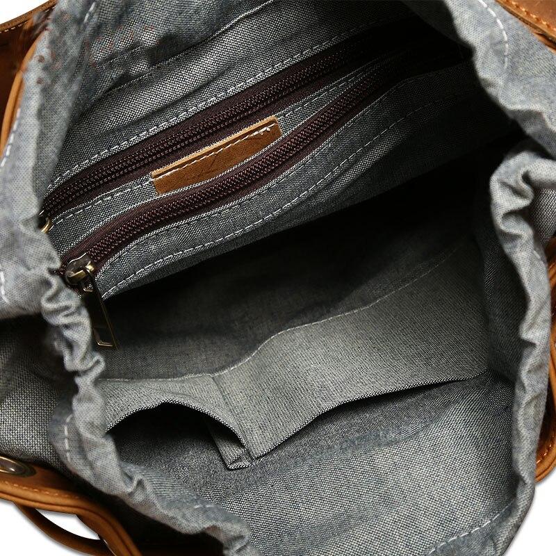 Femelle Sac Véritable Seau Brown Éclair Vintage En Intérieur Dos Jeunes À Fermeture Pour Cuir Fille Femme Designer Poche txAIqBz