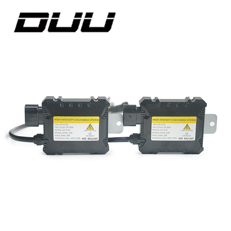 DUU 2pcs Car Ballast Hid Xenon Digital slim block ignition electronic for All Bulbs H7 H4 H1 H3 H11 12V 35W 55W
