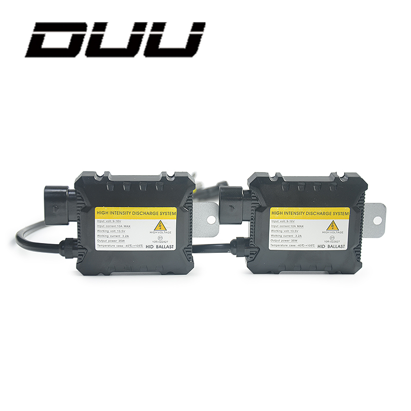 DUU 2pcs Car Ballast Hid Xenon Digital slim block ignition electronic for All Bulbs H7 H4 H1 H3 H11 12V 35W 55W