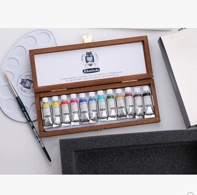 Schmincke Great master level Christmas Edition Watercolor Pigment 12color 5ml The wooden box suit чехол накладка для iphone 6 ozaki o coat 0 3 jelly oc555tr пластик прозрачный