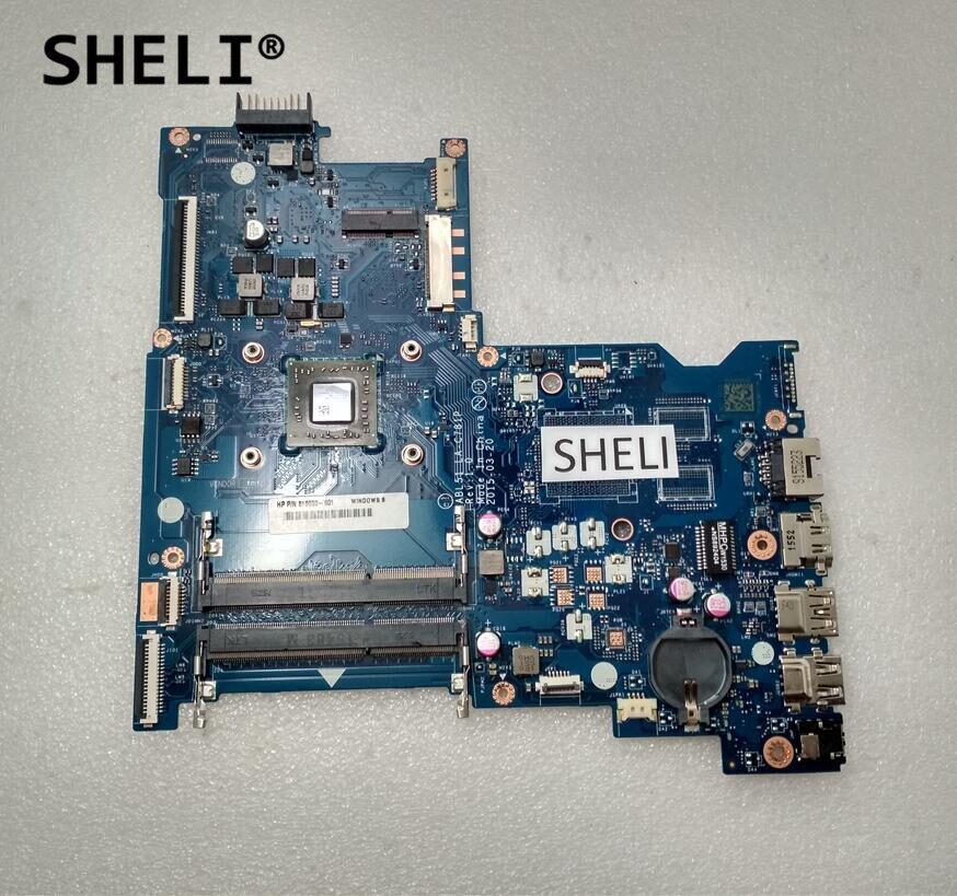 SHELI For HP 15-AF152N 15-AF Motherboard with A8-7410 cpu LA-C781P 818650-501 818650-001 sheli for hp 15 15 f motherboard with e1 2100 cpu 776783 001 776783 501