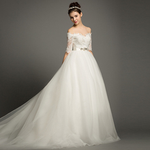 FOLOBE Elegant Off The Shoulder A-line Wedding Dresses