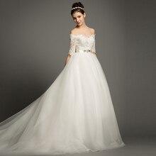 FOLOBE Elegant Off The Shoulder A-line Wedding Dresses