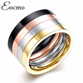 4 Layers Punk Couple Ring SET Rose Gold Plated 316L Titanium Ring anel masculino Steel Ring Men Women Bijoux Bague Gift 4pcs