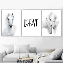 Horse Love Wall Art Canvas Painting Animal Nordic Poster And Prints Scandinavian Picture For Living Room Bedroom Home Decor