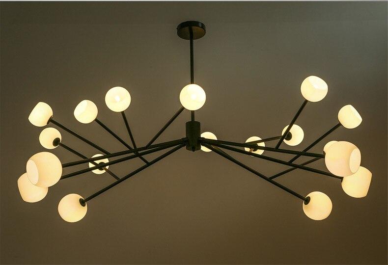 Suspensão de Loft Moderno Luzes Pingente de Aranha Com 18 Cabeças de Loft Industrial LED Pingente Lâmpadas Do Vintage Para Sala de estar & Bar