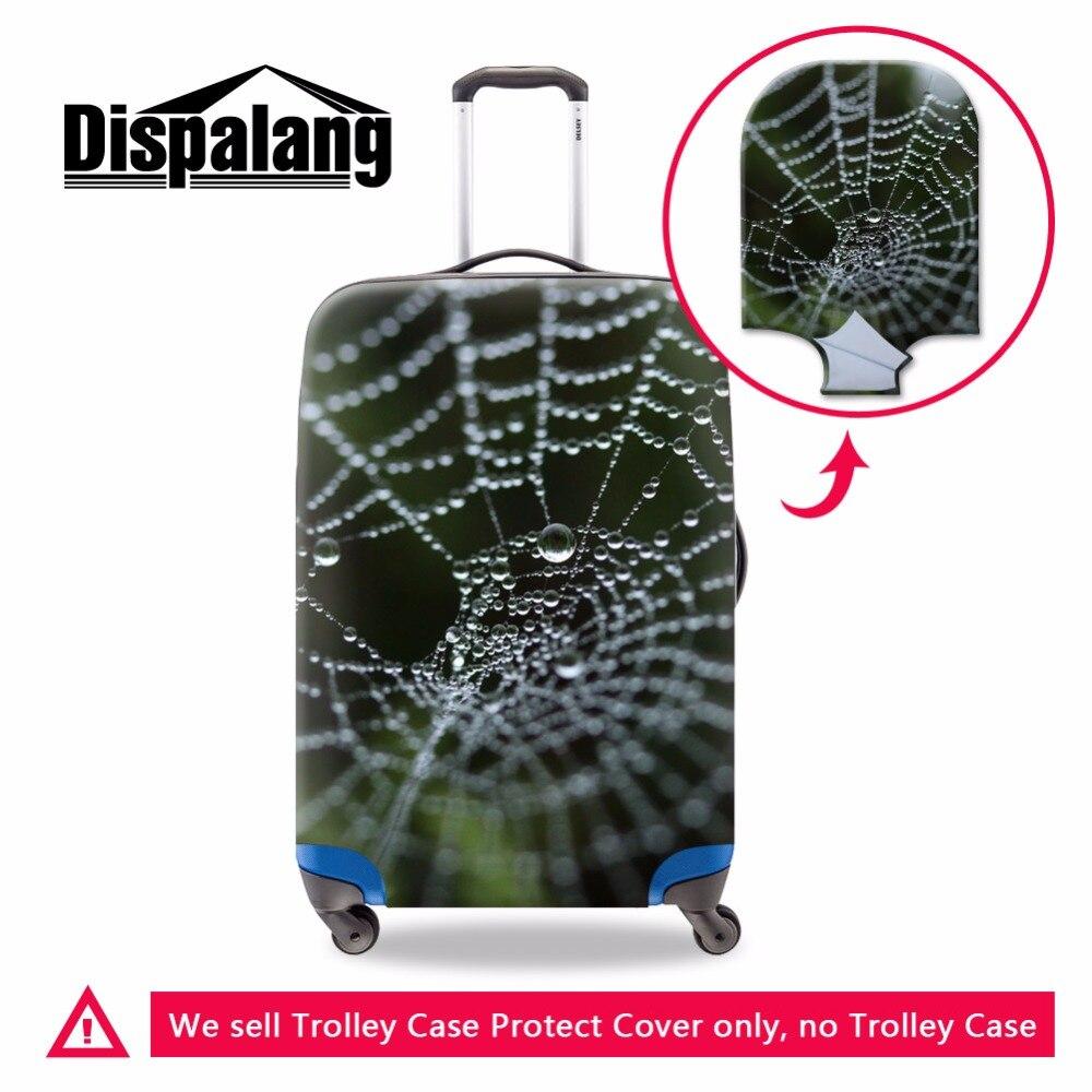 Dispalang эластичные Чемодан крышка применить к 18-30 дюймов чемодан протекторы Прохладный паук принт Туристические товары тележка чехол
