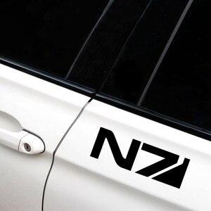 15X4.9CM массовый эффект N7 клейкая оригинальная автомобильная Наклейка Виниловая наклейка черный/белый автомобильный Стайлинг для Hyundai Sonata Jeep KIA RIO