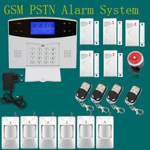 Russian/Spanish/English/French voice wireless infrared GSM alarm system for home Security Protection with door/window gap sensor