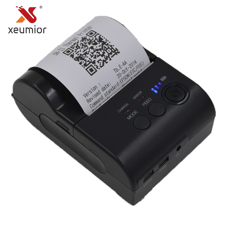 Xeumior 58mm Mini Portable Bluetooth Thermal Receipt Printer Android IOS Handheld Mobile POS Universal Ticket Printer portable bluetooth thermal printer mini 58mm bluetooth android and ios pos printer mobile usb receipt printer