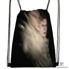 Custom Evan-Peters Drawstring Backpack Bag Cute Daypack Kids Satchel (Black Back) 31x40cm#180611-01-15