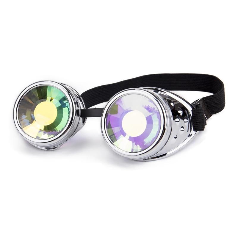 d980641c32 Oulylan caleidoscopio gafas mujeres hombres gafas de sol redondas de  colorido Festival fiesta Cosplay fiesta holográfica