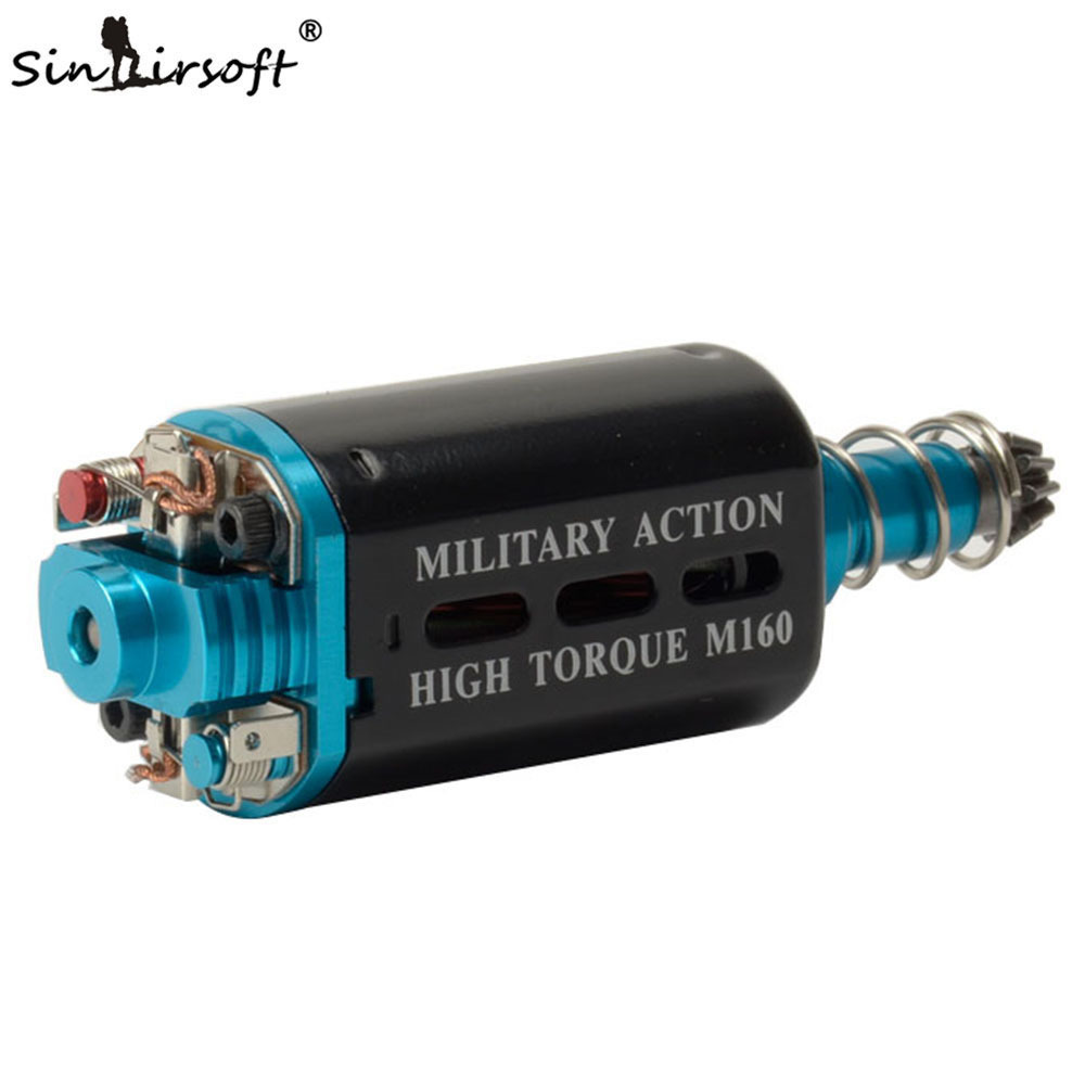 SINAIRSOFT M160 Alta Torção Tipo Motor de Alto Torque De Alta Velocidade Longo/Eixo Curto Para AK M16/M4/ MP5/G3/P90 AEG Airsoft Acessórios