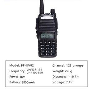 Image 4 - Walkie talkie baofeng uv 82 banda dupla 136 174 mhz 400 520 mhz 8 w e 5 w baofeng uv 82 ham rádio em dois sentidos baofeng 82 uv82 hp
