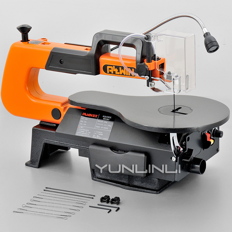 Jig Electric 16 Variable Woodworking 10 DIY Blades Scroll Saw Inch Curve 220V VR With Angle SSA16L Cutting Saw Saw Table Speed