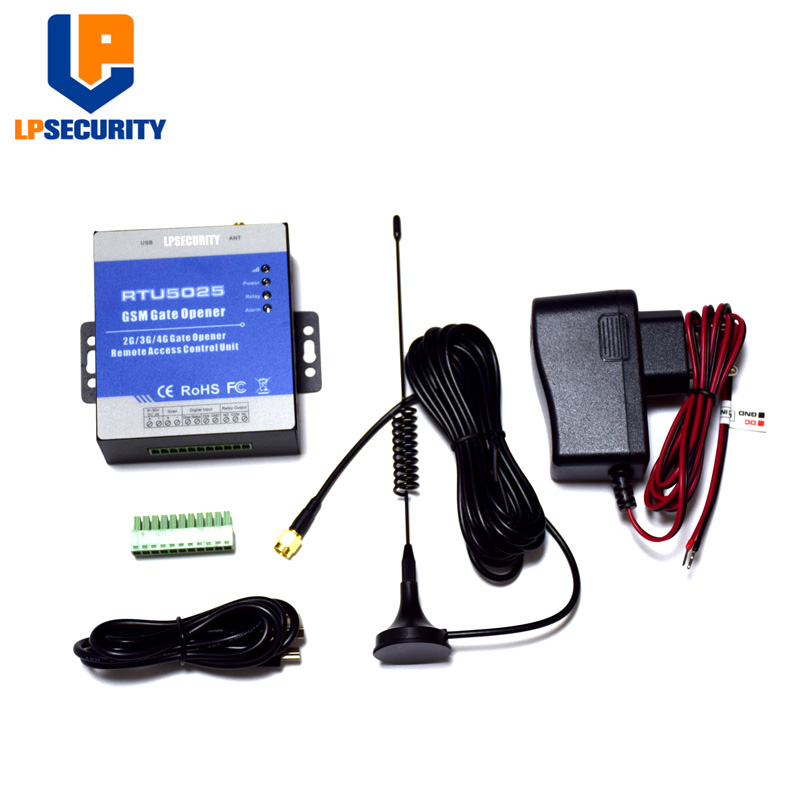 Safety Access Record Wireless Door Opener Garage Gate Operator Remote Control System RTU5025 Via SMS/Free Phone Call 2G