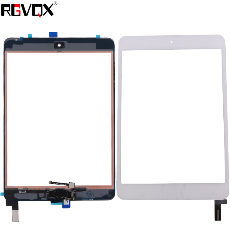Mini4 New Original Touch Screen Digitizer For iPad mini 4 with Home Button TP + IC Front Glass Panel Replacement Black White цена