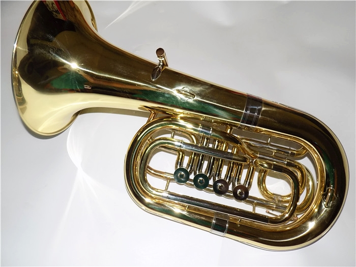 Yellow Brass Junior Tuba Bb Key Four Valves Height 612mm Lacquer with Case and mouthpiece musical instruments professional suzuki s 32c soprano melodion with case and mouthpiece 32 key melodica professional performance