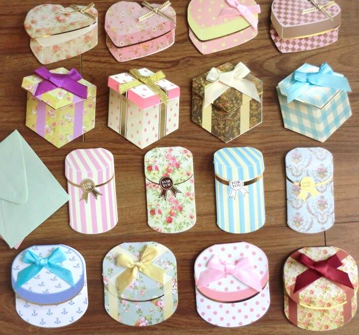 16pcsset creative 3d gift box bowknot greeting cards with envelopes cimg7695 cimg7696 cimg7697 cimg7698 cimg7702 cimg7708 cimg7709 cimg7705 cimg7704 cimg7706 cimg7707 m4hsunfo