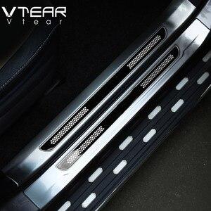 Image 3 - Vtear Für Toyota RAV4 RAV 4 2013 2018 Edelstahl Innen Tür Sill Schutz Pedal Scuff Platte Abdeckung Borte zubehör