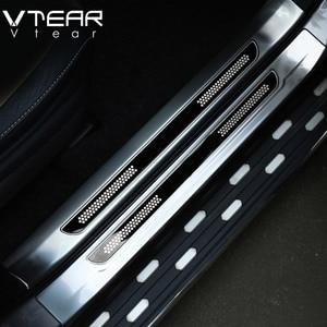 Image 3 - Vtear Protector interior de acero inoxidable para Toyota RAV4 RAV 4, Protector de placa de desgaste de Pedal de alféizar de puerta, accesorios