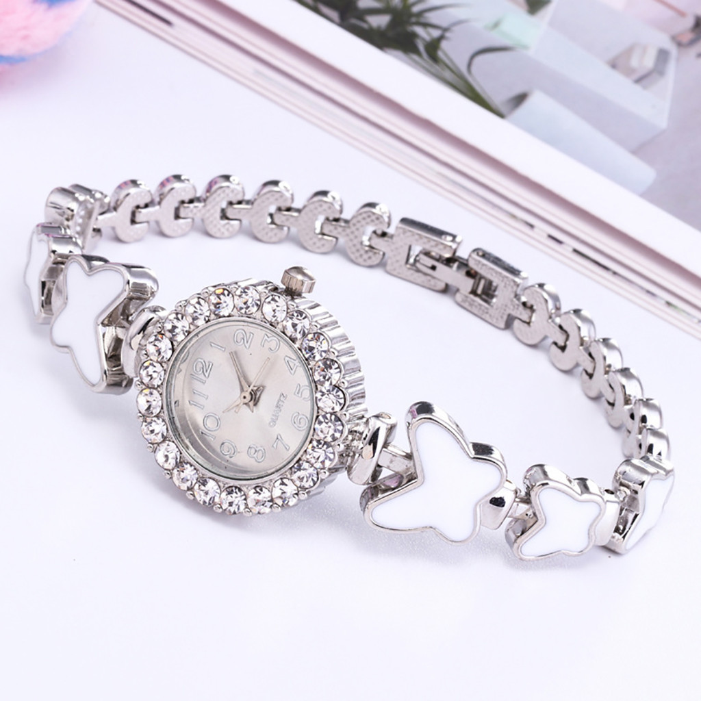 Uhren 2019 Uhr Frauen Runde Voller Diamant Band Armband Uhren Analog Quarz Bewegung Luxus Armbanduhr Dropshipping Relogio Feminino