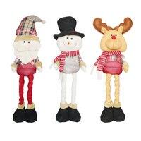 Hot Sale Christmas Classic Cartoon Telescopic Christmas Doll Gifts Festival Decor Home Room Ornaments Tree Decorations