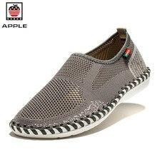 Appleฤดูร้อนผู้หญิงผู้ชายรองเท้าลำลองระบายอากาศตาข่ายแฟชั่นยางc haussure f emme z apatillasบุรุษkrasovki
