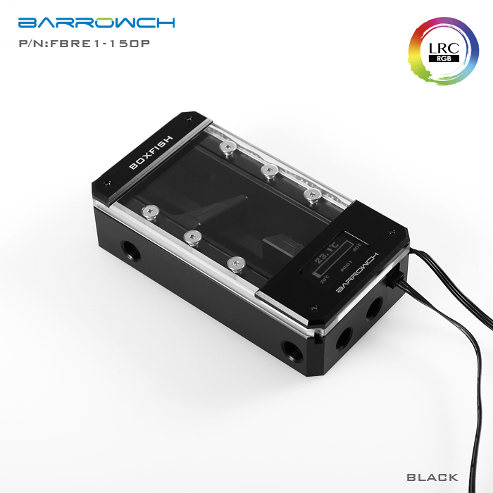 Barrowch FBRE1-P BoxFish Series , LRC RGB v2 , POM version Square Smart Digital Water Tank , Real-time temperature цена