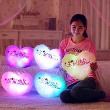 New Luminous Pillow Star Cushion Colorful Glowing Pillow Plush Doll Led Light Toys Gift For Girl Kids Christmas Plush Light Toys недорого