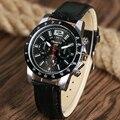 ZhongYi Esporte Relógios para Homens Militar Do Exército Casual Quartz Relógio de Pulso Banda Pulseira de Couro Relógio Masculino Relogio masculino Horas