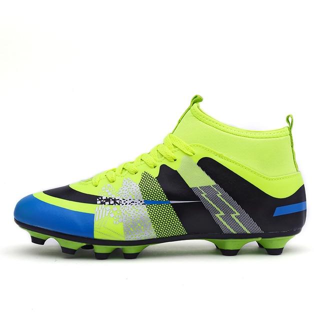 efe22df0ab Leoci Hot Sale Mens Chuteiras de Futebol Tamanho Grande Alta Tornozelo  Futebol sapatos Picos de Longa