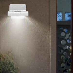 Image 3 - 2 uds, Nueva Generación, 16 LED, energía Solar, Sensor de movimiento por infrarrojos PIR, lámpara de seguridad para jardín, luz exterior para decoración de jardín