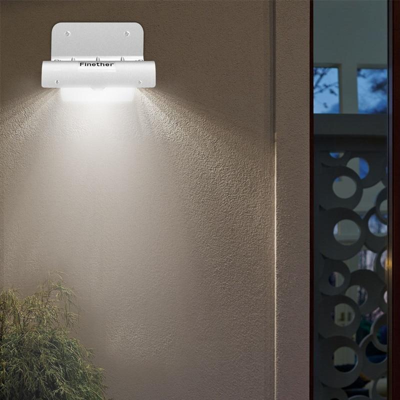 Image 5 - 2PCS 16 LEDs Outdoor Solar Motion Light Infrared Sensor Wall Lamp For Garden Security Lighting Outdoor Light-in Solar Lamps from Lights & Lighting