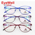 High quality alloy retro full frame eyeglasses with new spring hinge comfortable wearing oval optical frame for men and women