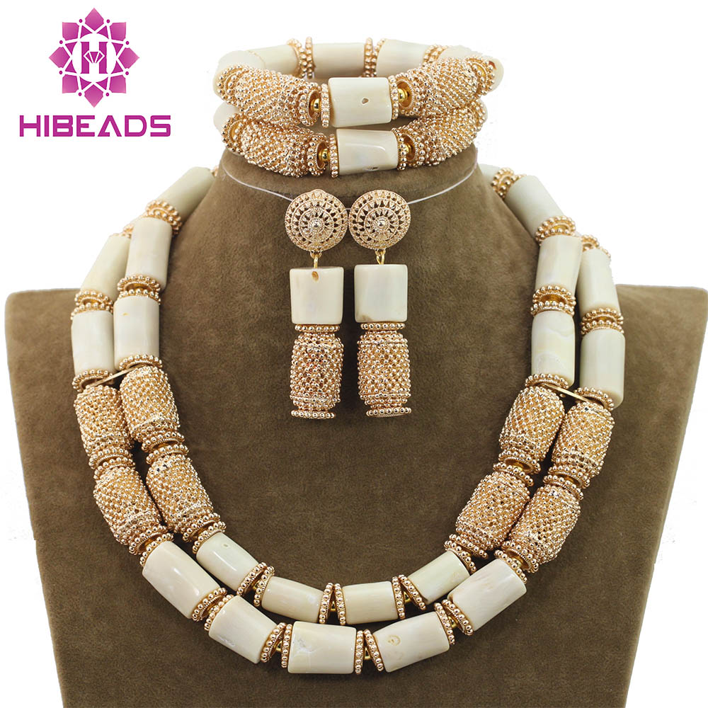 Luxury 2 Layers White Coral Necklace Bracelet Earrings Set African Wedding Coral Beads Jewelry Set Christmas Free ShippingABH126Luxury 2 Layers White Coral Necklace Bracelet Earrings Set African Wedding Coral Beads Jewelry Set Christmas Free ShippingABH126