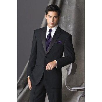Men's suit three-piece suit (coat + pants + vest) wedding groom groomsmen dress men's business formal suit support customization