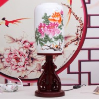 Modern Antique Chinese Style Lamps Ofhead Decoration Eggshell Porcelain Ceramic Table Lamp
