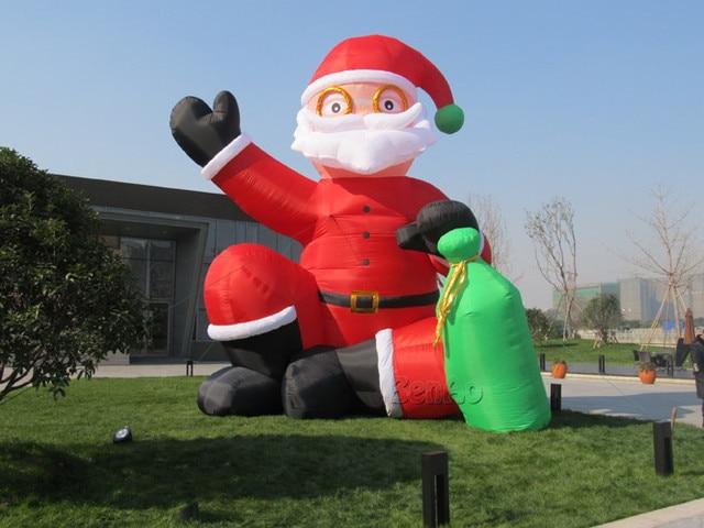 X140 6 м H надувные Рождественские украшения надувной Санта клаус на Рождество, Рождество Санта-Клаус Надувные праздник модель