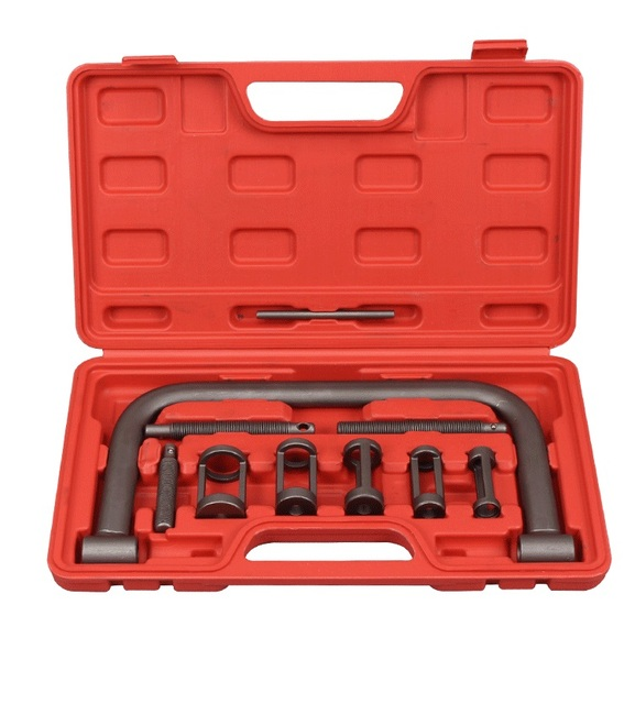 Heavy-Duty Auto Automotive Motorcycle ATV Small Engine Valve Spring Compressor C Clamp Service Removal Tool Kit free shipping