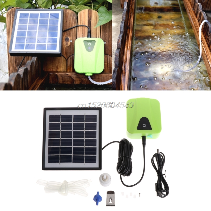 Solar Angetrieben Lade Oxygenator Luftpumpe Sauerstoff Belüfter Für Aquarium Fish & Aquatische Heimtierbedarf R06 Drop Ship