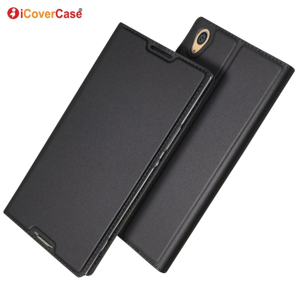 Ultra-thin PU Leather Flip Wallet Case Stand Cover For Sony Xperia XA1 Ultra