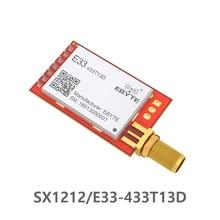 E33 433T13D 433MHz SX1212 SMA Connector UART เครื่องส่งสัญญาณและตัวรับสัญญาณไร้สาย