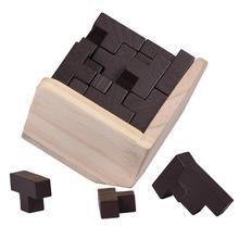 54Pcs/Set Wooden T Shape 3D Puzzles Building Brain Teaser Luban Interlocking Toy