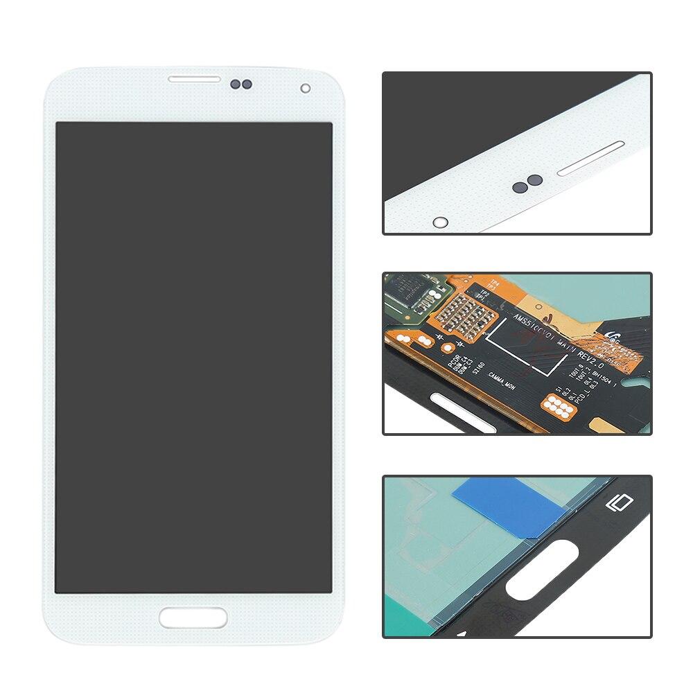 imágenes para LCD Para Samsung Galaxy i9600 S5 G900 G900F blanco Pantalla LCD de pantalla táctil con el Montaje del digitizador, el envío gratuito!