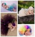 Nuevo Cute Baby Girls Tutu diseño de moda accesorios de fotografía recién nacido princesa del vestido del traje del equipo infantil Pettiskirt de la falda